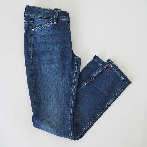 Jeans 7/8 bleu moyen